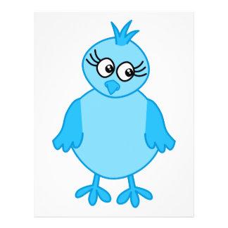 Gullig babyfågel som är blå reklamblad