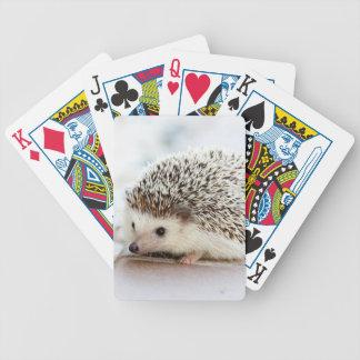 Gullig babyigelkott spelkort