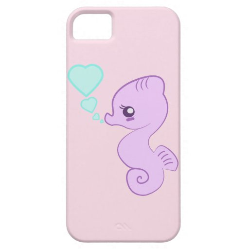 Gullig babySeahorseiphone case iPhone 5 Case-Mate Skydd
