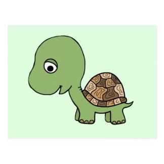 Gullig babysköldpadda vykort