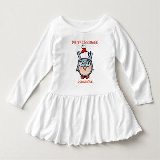 Gullig babyuggla som firar jul t shirt