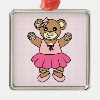 Gullig Ballerinadansnalle - rosa anpassningsbar Julgransprydnad Metall