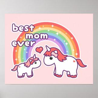 Gullig bäst Unicornmamma någonsin Poster