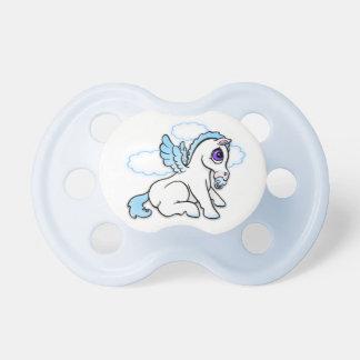 Gullig bebis Pegasus - blått - nappar