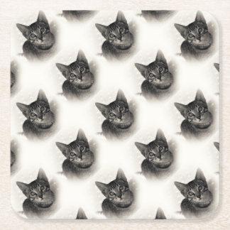 Gullig Bengal kattunge Underlägg Papper Kvadrat