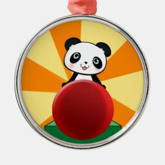 Gullig besynnerlig gåva för Pandabjörngåva för Julgransprydnad Metall