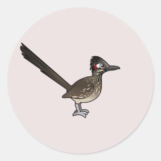 Gullig Birdorable Roadrunner Runt Klistermärke