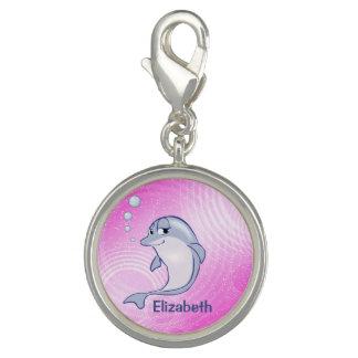 Gullig blåttdelfin som ska personifieras charms