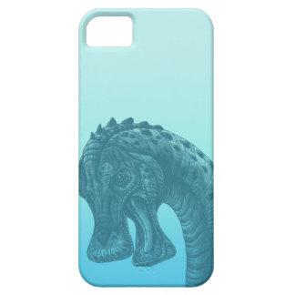 Gullig blåttGeekDinosaur Barely There iPhone 5 Fodral