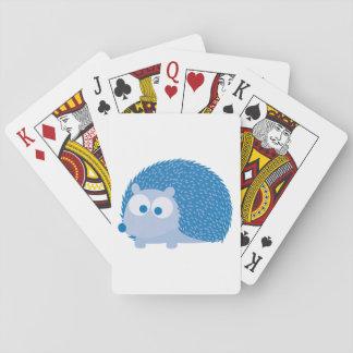 Gullig blåttigelkott spel kort