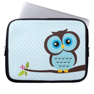 Gullig blåttuggla laptopskydd