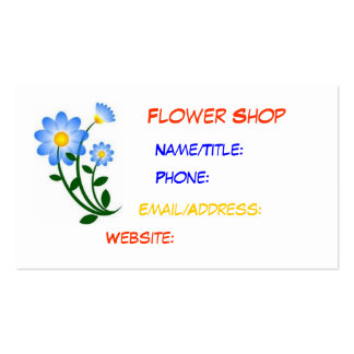 Gullig blomsterhandelvisitkort set av standard visitkort