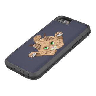 Gullig Bobcatkattunge Tough Xtreme iPhone 6 Fodral