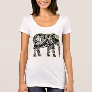 Gullig Boho elefantT-tröja T Shirt
