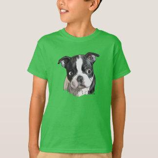Gullig Boston Terrierhund Tröjor