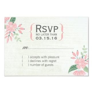 Gullig botanisk blommaOSA kort 8,9 X 12,7 Cm Inbjudningskort