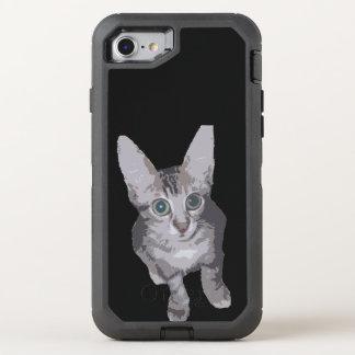 Gullig bred ögakattunge OtterBox defender iPhone 7 skal