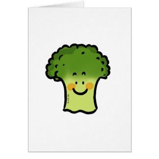 Gullig broccoli hälsningskort