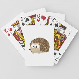 Gullig brun igelkott casinokort