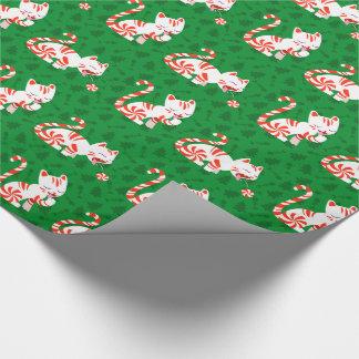 Gullig candy canekatt presentpapper