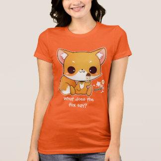Gullig chibiräv med kawaiiglass tee shirt