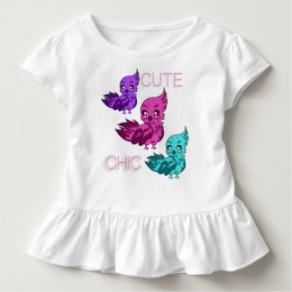 Gullig chic småbarnklänning t-shirt