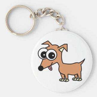 Gullig Chihuahua Keychain Rund Nyckelring