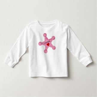 Gullig CowgirlemblemT-tröja T-shirts
