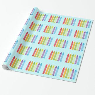 Gullig Crayon som slår in papper Presentpapper