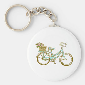 Gullig cykel med tulpan nyckelringar