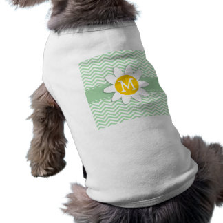 Gullig daisy på Retro Celadonsparre; sicksack Hund Kläder