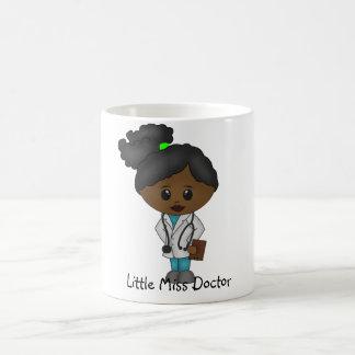 Gullig damdoktormugg - svart/afrikan kaffemugg