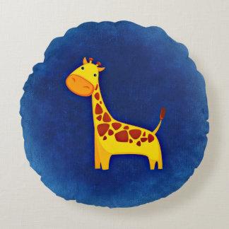 Gullig dekorativ kudde för giraffpolyesterrunda