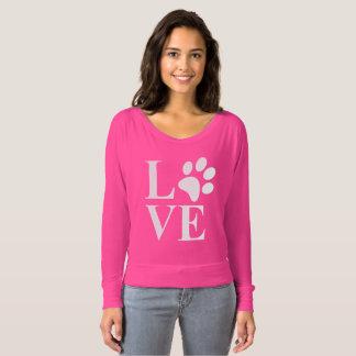Gullig djur hjärta för älskarehusdjurtass tröjor