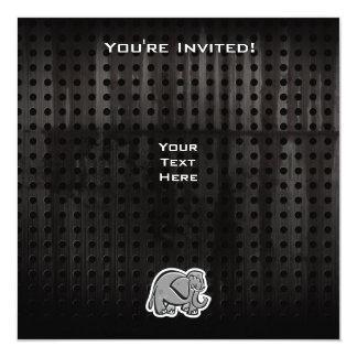 Gullig elefant; Coola Fyrkantigt 13,3 Cm Inbjudningskort