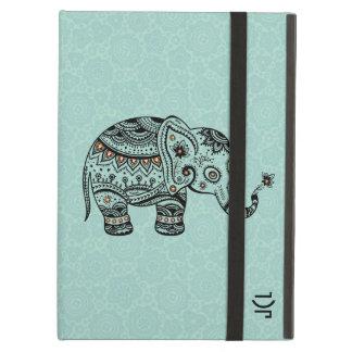 Gullig elefant för BlackAnd Mintblommigt iPad Air Skal