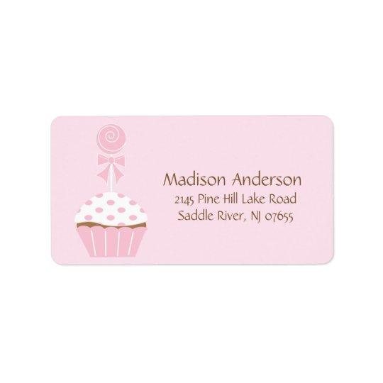GULLIG etikett för muffinklubbareturadress Adressetikett