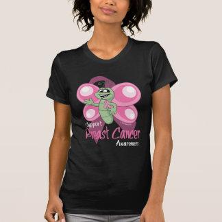 Gullig fjäril för bröstcancer t-shirt