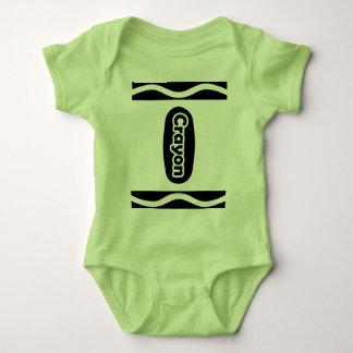 Gullig flicka för pojke för CrayonHalloween dräkt Tee Shirts