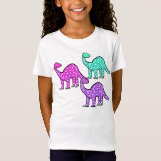 Gullig flicka rosa gåva för DinosaurT-tröja T Shirt
