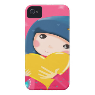 Gullig flickablackberry fodral iPhone 4 Case-Mate skydd