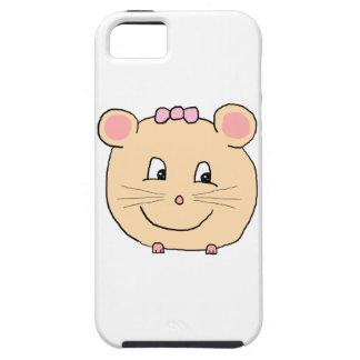 Gullig flickaktigt mus iPhone 5 cases