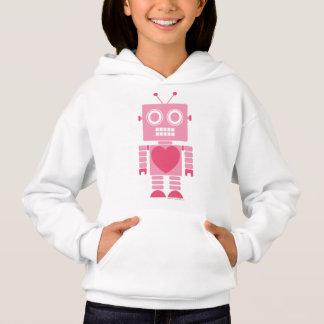Gullig flickaktigt robot tröjor