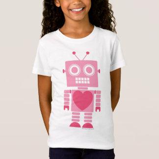 Gullig flickaktigt robot tshirts
