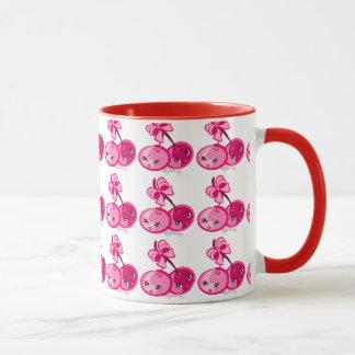 Gullig flickaktigt rosa körsbär~ mugg