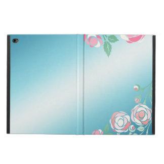Gullig flickaktigt rosa- och blåttblommigt powis iPad air 2 skal