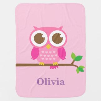 Gullig flickaktigt rosa uggla för flickor