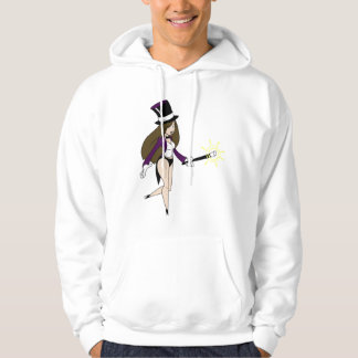 Gullig flickatrollkarl hoodie