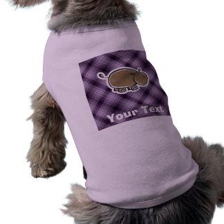 Gullig flodhäst; Lilor T-shirt För Hundar
