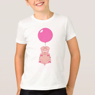 Gullig flyggris och ballong t-shirt